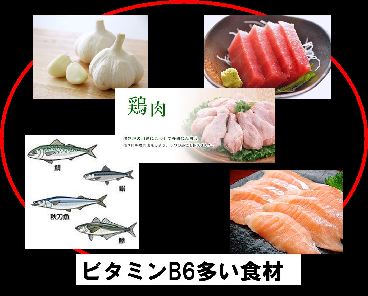 ビタミンB6多い食材