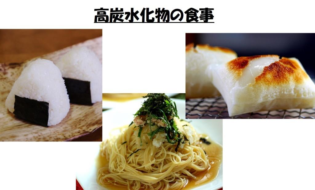 高炭水化物の食事
