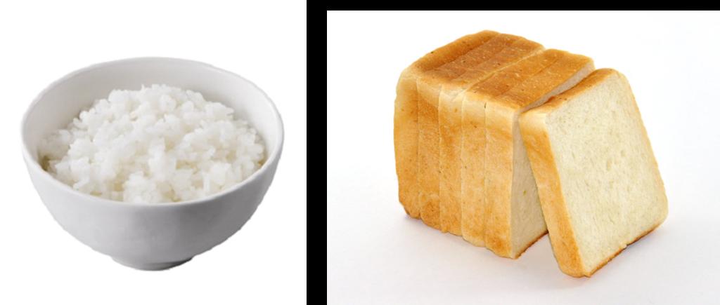 ごはんとパン