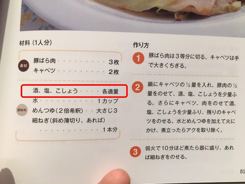 レシピ適量