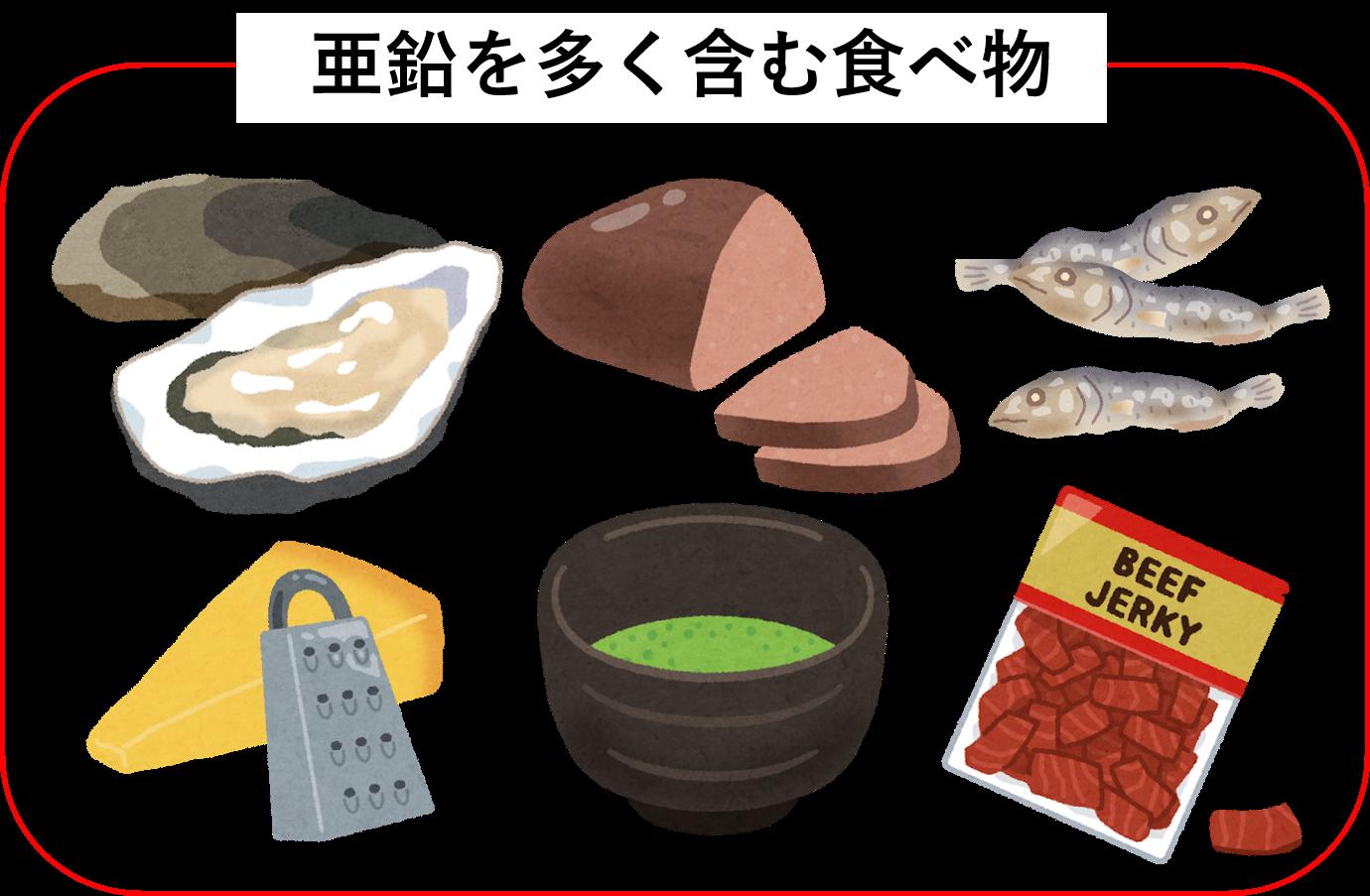 食べ物 多い 亜鉛 が